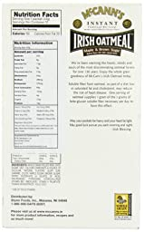 McCANN\'S Instant Irish Oatmeal, Maple & Brown Sugar, 10-Count Boxes (Pack of 6)