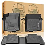 oEdRo Custom fit Floor Mats for 2016-2017 Toyota Tacoma Double Cab, Automatic Only, All Weather Guard Front, Rear, 2 Row Liner Set