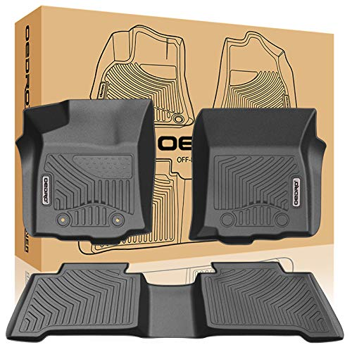 oEdRo Floor Mats Compatible for 2016-2017 Toyota Tacoma Double Cab