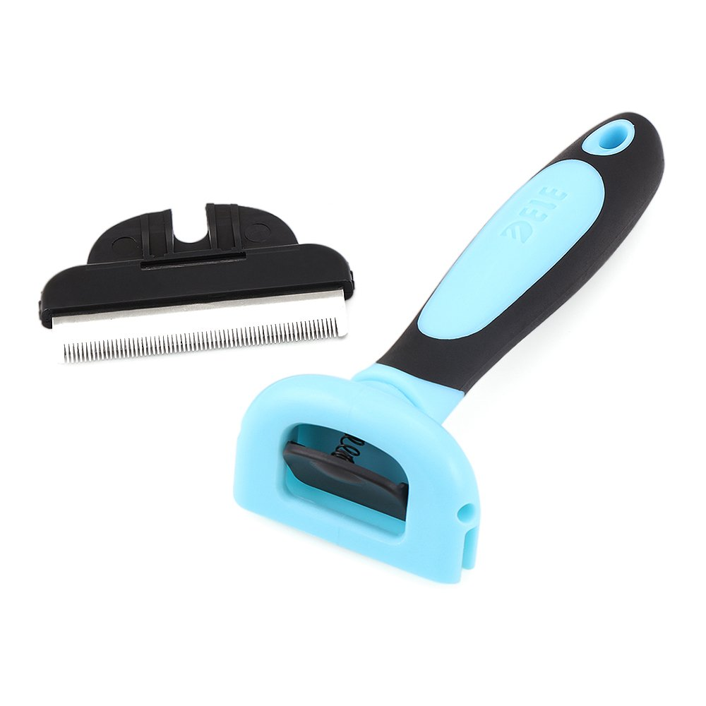 CORESPOT LLC Pet Deshedding Tool and Grooming Brush For Cats and Dogs (Blue)