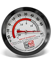DayMark Stainless Steel Refrigerator/Freezer Classic Thermometer