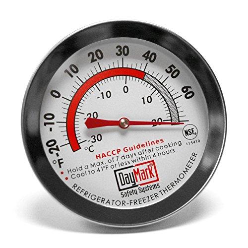 DayMark Stainless Steel Refrigerator/Freezer Classic Thermometer (Best Stainless Steel Fridge Freezer)