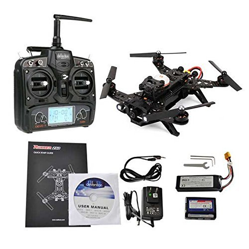 Walkera Runner 250 Racing Drone RTF With Devo 7 FPV Camera Video Transmitter