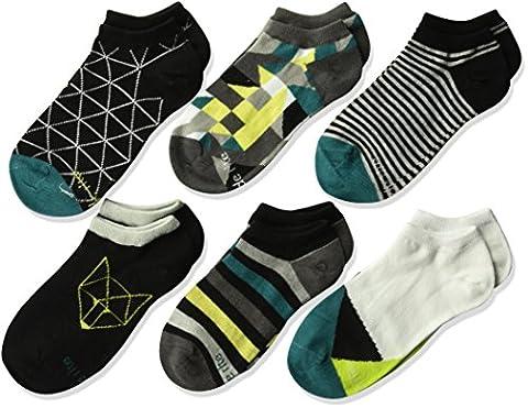 Stride Rite Toddler Boys' 6-Pack No Show, Grayson-Black, Sock Size: 6-7.5 / Shoe Size: 7-10