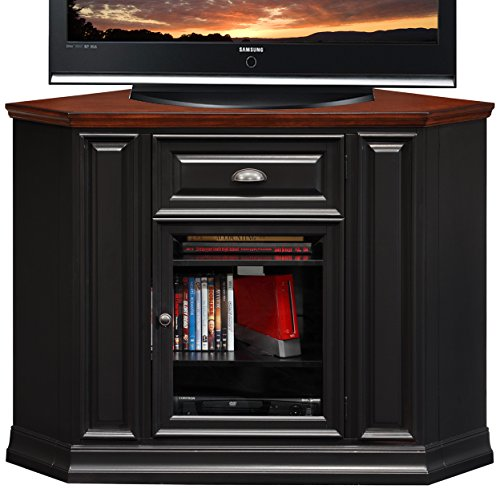 - Leick 87232 Riley Holliday TV Stand, 46 inches, Black Rub