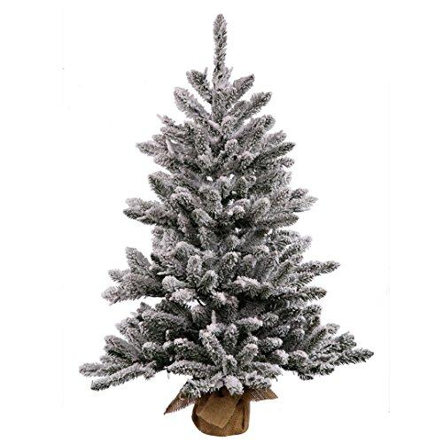 Vickerman B160543 Pine with 484 PVC tips & 150 Dura-lit Mini Lights in a Burlap base, 42