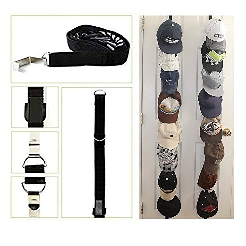 QG88 2PACK Nylon 16pcs Caps Hook Holder Hat Racks Caprack Ba
