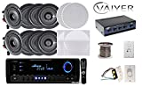 Vaiyerkits Home In Wall / In Ceiling Home Theater System Including 8 150W 5.25'' speakers, 1 Digital Home Stereo Receiver, 1 Remote, 4 Volume Controls 1 250 ft. Wire & 1 Bluetooth Music Receiver