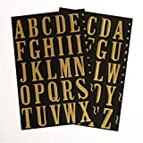 "Hy-Ko Products MM-2 Self Adhesive Vinyl Numbers and Letters 1"" High, Black & Gold, 107 Pieces, Package may vary"