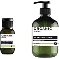 500ml and 50ml Organic Choice Antibacterial Hand Sanitiser Gel kills 99.9% Gems 75% Alc
