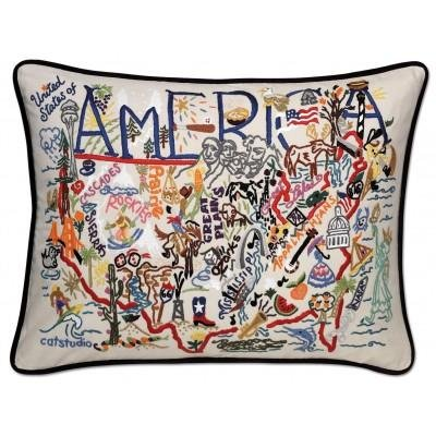 Catstudio America Pillow - Original Geography Collection Home Décor 114(CS) by Catstudio (Image #1)