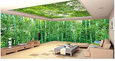 LWCX 3D Wallpaper Custom Picture Natural Scenery Bamboo Forest Landscape Living Room Tv Wall