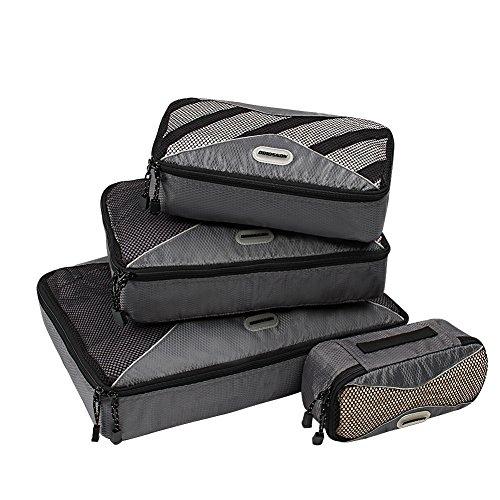 ORICSSON 4 Sizes Durable Travel Cubes Travel Organizer Bag, Titanium (Duffel Titanium)