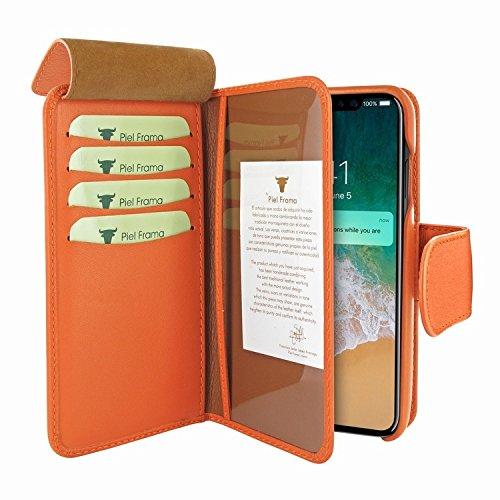 Piel Frama 793 Orange WalletMagnum Leather Case for Apple iPhone X by Piel Frama (Image #2)