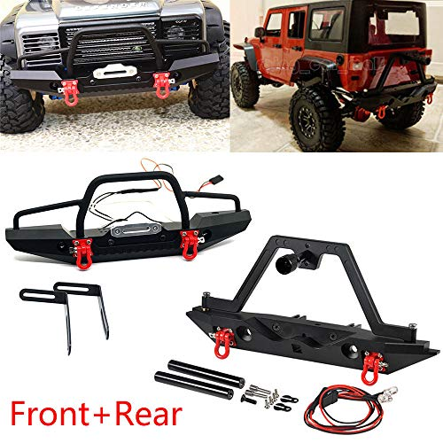 Benedict Harry Metal Front + Rear Bumper Set For TRAXXAS TRX-4 Axial SCX10 II 90046 RC Crawler (Front &Rear Bumper)