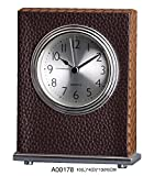Quality Analog Leather Coat Hotel Alarm Beep Clock Desk Clock, Home Decor, Great for Gift - A00178