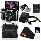 Canon PowerShot G7 X Mark II Digital Camera w/1 Inch CMOS Sensor and Tilt LCD Screen Touchscreen- Standard Bundle (1066C001)