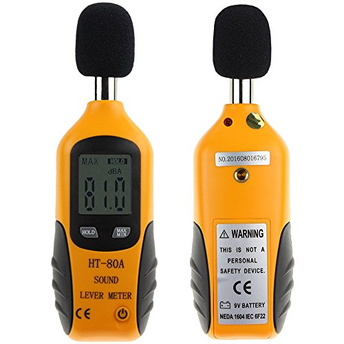 HT-80A Mini Portable Size Sound Level Meter LCD Digital Screen Display Noise Tester Noise Decibel Monitor Pressure Tester