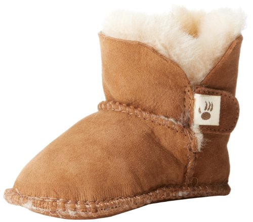 Bearpaw Cottonwood Double Face Bootie (Infant)ChestnutLarge (12-18 months) (Sheepskin Baby Booties)