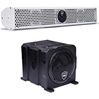 Wet Sounds Stealth Package - White Stealth 6 Ultra 200 Watt Sound Bar and AS-6 6 250 Watt Powered Stealth Subwoofer