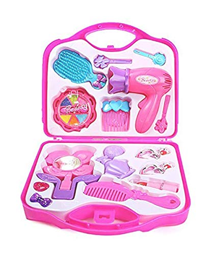 2FONZ® Beauty and Make up Set with Hair Dressing and Accessories for Girls (Pink)