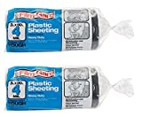 Berry Plastics Film-Gard Plastic Polyethylene Sheeting 4 Mil, Black, 3' x 50' - Pack of 2