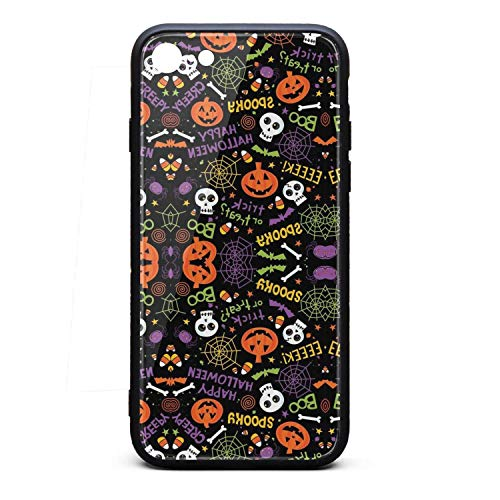 IPhone7 Case/IPhone8 Case Halloween Pumpkin Skull Printing Anti-Finger Anti-Scratch TPU Heavy Duty Protection Phone Back Cover for iPhone 7 Case/iPhone 8 Case]()