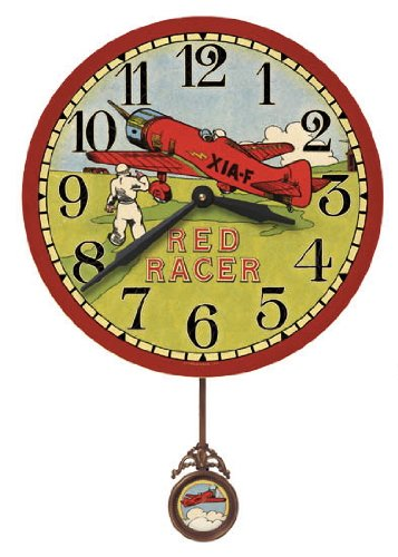 Circus Wall Clock (Floating Circus Storytime Red Racer Wall Clock , 13-Inch)