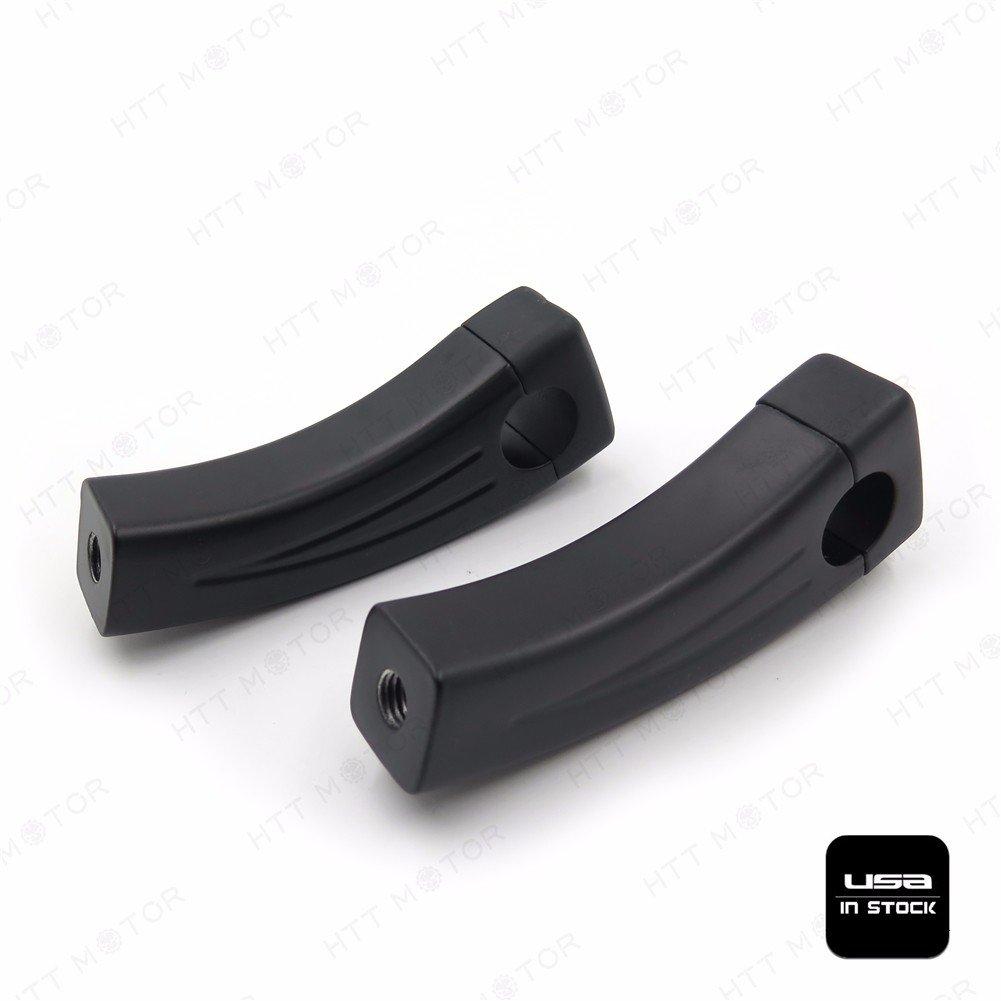 BC - 4.5 Black Motorcycle Handlebar Pullback Risers for universal bikes 1 Bar XHT