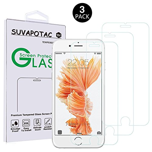 3-Pack-iPhone-7Plus-Screen-Protector026mm-9H-Tempered-Glass-Screen-Protector-SUVAPOTAC-Bubble-Free-Anti-scratch-Case-friendly-for-iPhone-7-plus
