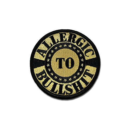 bat Badge Military Hook and Loop Badge Embroidered Velcro Morale Patch - Allergic To Bs ACU (Badge Military Hat)