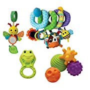 Infantino Spiral, Squeeze, Roll, and Rattle Activity Toy Set