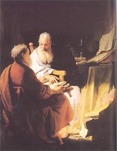 "Two Old Men Disputing St Peter and St Paul by Rembrandt Van Rijn - 16"" x 20"" Premium Canvas Print"