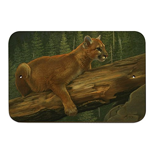 Graphics and More Cougar Mountain Lion on Fallen Tree Home Business Office Sign - Wood - 6