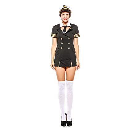 Amazon.com: YaXuan Pilot Role-Playing Suit Halloween Party ...