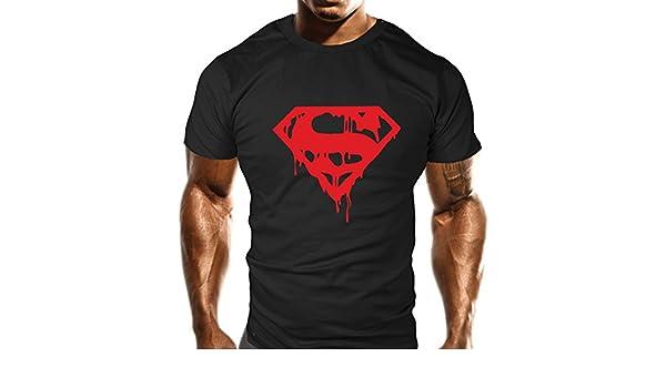 Camiseta con logotipo de Superman, color negro: Amazon.es: Ropa y accesorios