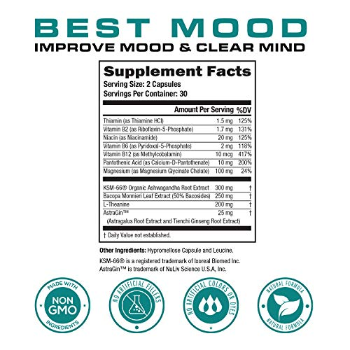 Best Mood Nootropic Mood Booster & Stress Relief Supplement