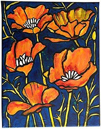 Poppy Flower Painting Print