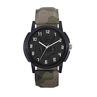 RJB Analogue Black dial Watch for Men (watch-017-green)