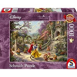 Schmidt Spiele 59625 Puzzle Da 1000 Pezzi Soggetto Thomas Kinkade Disney Ballerina Di Biancaneve Con Il Principe