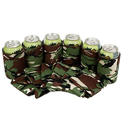 QualityPerfection 25 Camo Militarily Beer Blank Can Coolers Sleeves,Soft Drink Collapsible Insulator Coolers | Perfect For DIY Project (25, Camo Militarily) from QualityPerfection