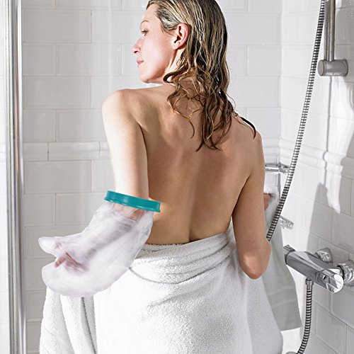 Waterproof Arm Cast Protector for Shower Bath, Reusable Bandage Cover Keeps Casts Bandages Dry, Adult Arm Cast Sleeve Bag Covers Hands, Wrists, Fingers for Wounds Burns 22 Inches by DOACT (Image #6)