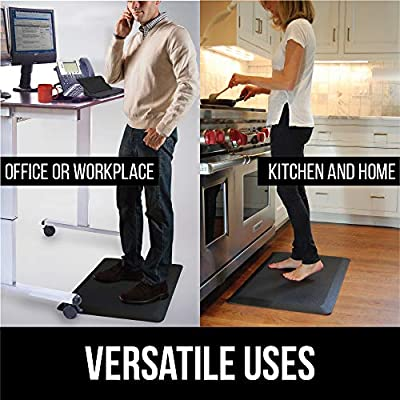 "KANGAROO BRANDS Original 3/4"" Anti-Fatigue Comfort Standing Mat Kitchen Rug, Phthalate Free, Non-Toxic, Waterproof, Ergonomically Engineered Floor Pad, Rugs for Office Stand Up Desk"