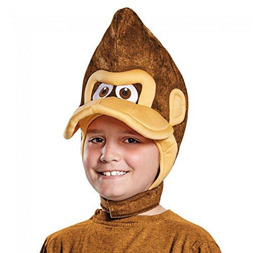 Donkey Costume Kids Kong (Child's Nintendo Donkey Kong Gorilla Monkey Headpiece Costume)