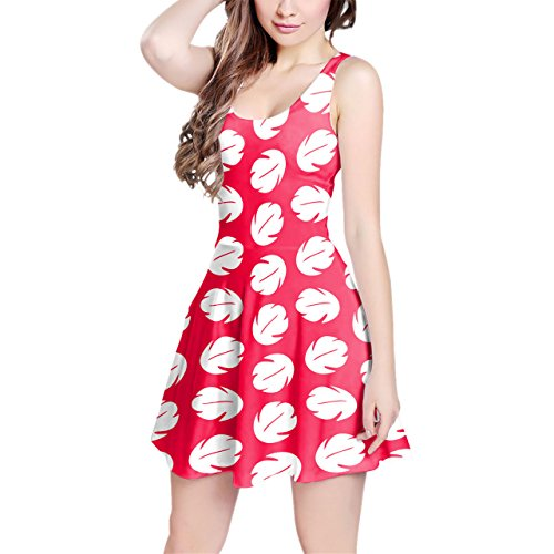 Lilo Hawaiian Dress Disney Inspired Sleeveless Flared Skater Dress]()