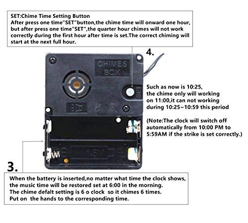 TIKROUND Original Youngtown 12888 Chime Melody Pendulum Clock Movement