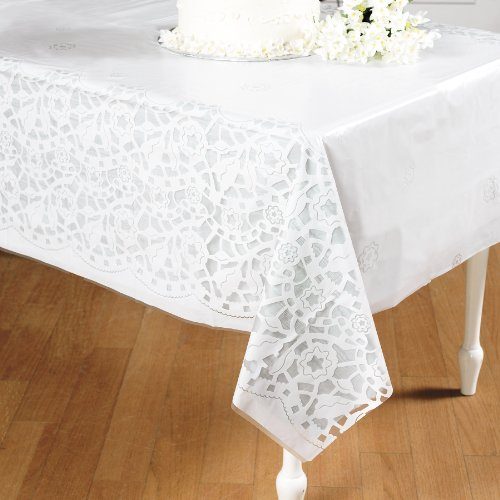 Plastic Wedding Lace Printed Tablecloth