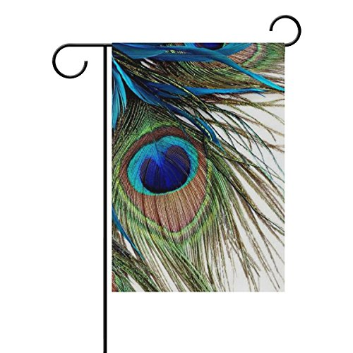 LEISISI Peacock Feather Garden flag 12