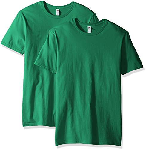 Fruit of the Loom Men's Crew T-Shirt (2 Pack), Clover, Medium ()
