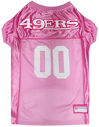 NFL SAN Francisco 49ERS Dog Jersey Pink, Large. - Football Pet Jersey in - Tag Dog 49ers
